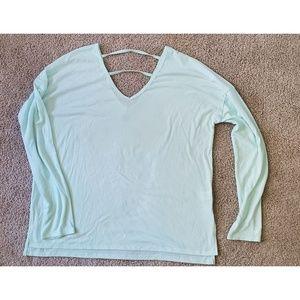 Long Sleeve Light Mint Green Shirt